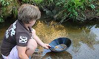 Goldwaschen im Bayerischen Wald